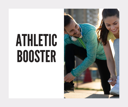 The Athletic Booster can be added to your custom vitamins based on your DNA from Athletigen and VitaminLab